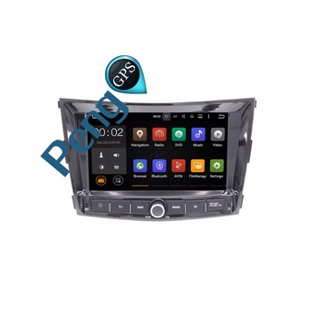 Quad Core 2 Din Android 7.1 Car DVD Player Car Radio Ssangyong Tivoli 2015 + GPS Navigation HD Touchscreen Autostereo Headunit image