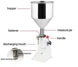 A03 máquina de llenado manual de esmalte de uñas máquina de llenado de champú 5 ~ 50ml para crema champú cosmético líquido pasta de llenado de aceite