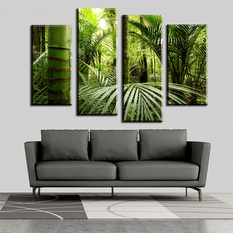 2016 cuadros fallout 4pcs the beautiful tropical jungle for Fallout 4 canvas painting