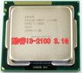 Бесплатная доставка для Intel i3-2100 Core I3 1155 3.1 Г Pin официальная версия настольный компьютер CPU