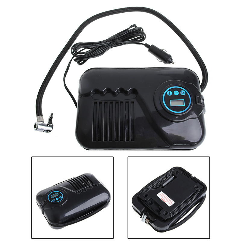 12V 250psi Digital Air Compressor Portable Car Van Inflator Pump Auto Cut Off Car Styling in Inflatable Pump from Automobiles Motorcycles
