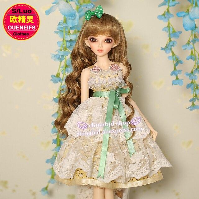 BJD בגדי 1/4 ילדה פרחוני חצאית BJD SD בובת Minifee הפיות גוף YF4 103 בובת אבזרים