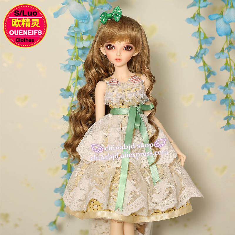 OUENEIFS free shipping girl Bud silk skirt with shoulder-straps 1/4  bjd sd customization doll clothes, no doll or wig YF4-103