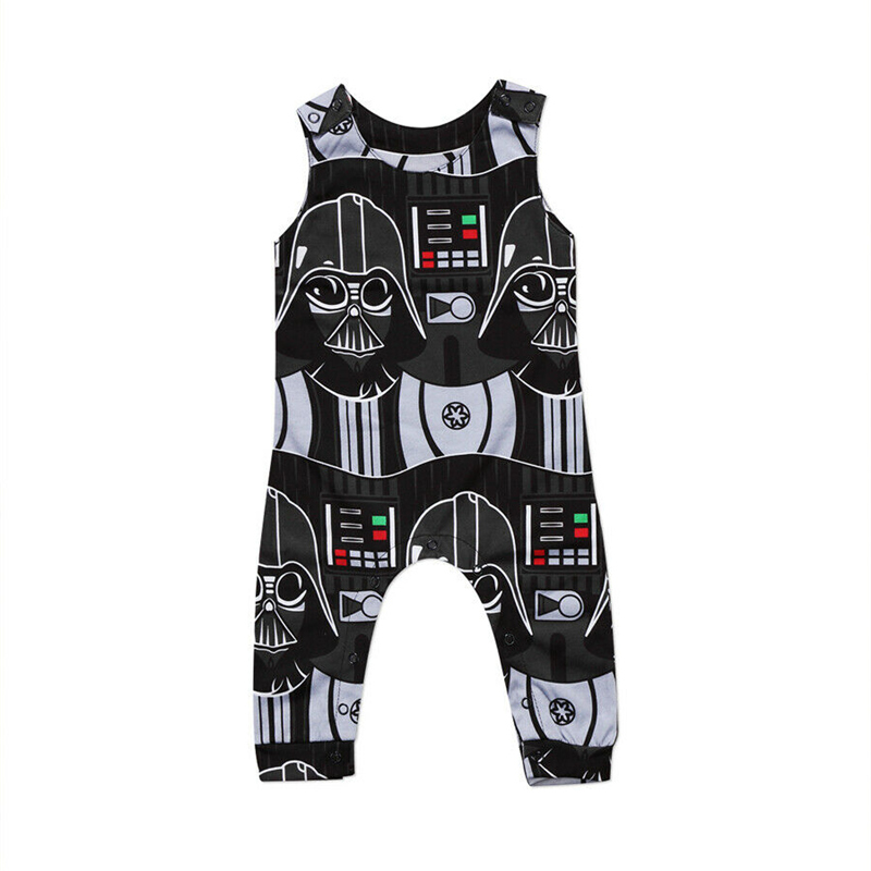 2019 Newborn Infant Kids Baby Boys Star Wars   Romper   Jumpsuit Clothes Outfits Toddler Boy Girls Print Sleeveless   Rompers   Clothing