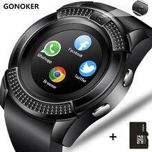 Смарт-часы V8 SmartWatch Bluetooth перчатки для сенсорного экрана часы с Камера/слот sim-карты, Водонепроницаемый Смарт-часы DZ09 Y1 VS M2 A1