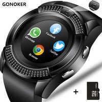 Reloj inteligente V8 reloj inteligente Bluetooth con pantalla táctil con cámara/ranura para tarjeta SIM, reloj inteligente impermeable DZ09 Y1 del M2 A1