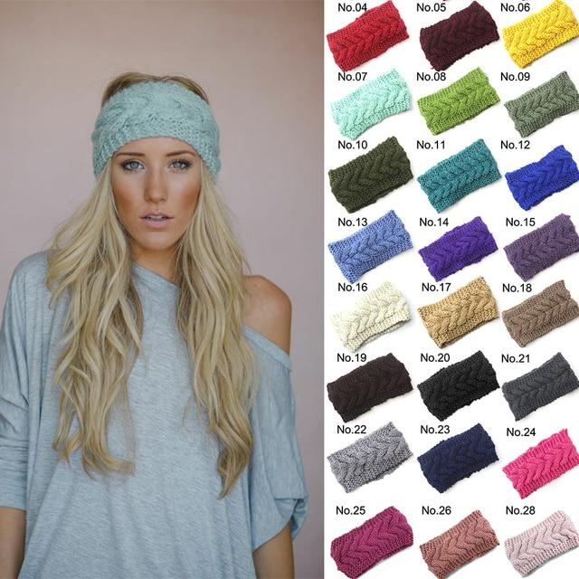 30 Farbe Warme Häkeln Strickwolle Twist Stirnband Für Frauen