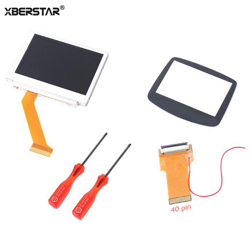 Replacement 32pin 40pin LCD Screen For Nintend GBA Backlight <font><b>Kit</b></font> Cable adapter for GBA SP <font><b>AGS</b></font>-<font><b>101</b></font> <font><b>MOD</b></font> LCD Screen image
