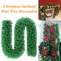 2.7m Christmas Pine Garland Artificial Green Wreaths Christmas Hanging Ornaments for Home Party Xmas Tree Decoration
