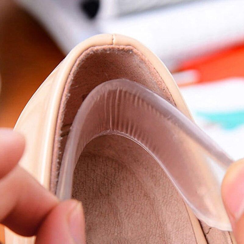 1 Paar Frauen Mode Silikon Gel Ferse Kissen Protector Schuh Insert Pad Einlegesohle Beste Geschenk Nützlich Knitterfestigkeit