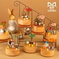 Wool handmade diy rotating music box music box birthday gift Totoro, sakura momoko, jimi lovers music box