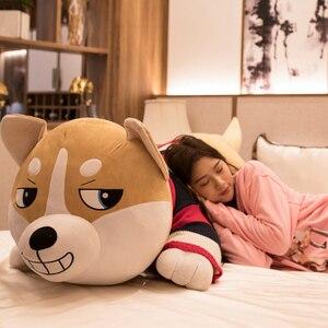 Image 3 - 1PC 80 120cm Nette Plüsch Big Husky Hund Tier Spielzeug Puppen Plüsch Kissen Kissen Baby Kinder geburtstag Geschenke Hause Dekoration