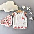 Retail Summer Newborn Infant Clothing Set for Girls 100% Cotton Watermelon Clothes Suit 1set