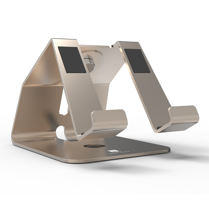 2 in 1 Aluminum Metal Stand for iPhone Samsung Mobile Phone Tablet Desk Holder for Apple Watch Charging Dock Station