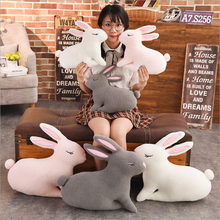 New Style Cute Grey Pink White Rabbit Plush Toy Stuffed Animal Doll Toys Pillow Children & Friends Gifts