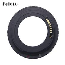 Foleto AF cámara M42 E negro AF confirmar adaptador de montaje para lente M42 para Canon EOS cámara EF EOS 5D / EOS 5D Mark II / EOS 7D