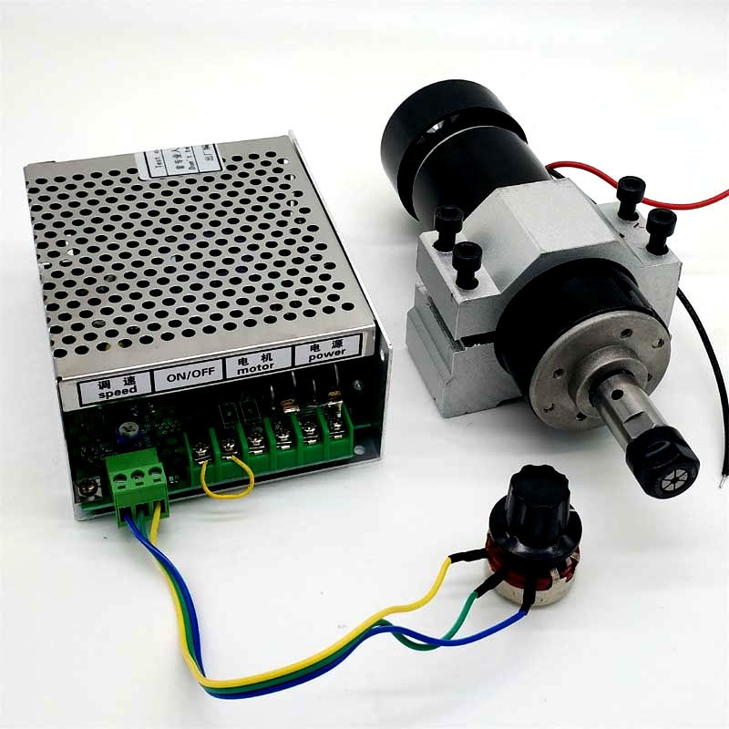 500W air-cooled spindle motor + Speed power supply + fixture PCB engraving machine spindle ER11 12000 rpm dc cnc spindle brushless 400w air cooled spindle motor switching power supply motor driver for cnc machine