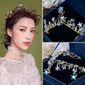 New Arrival Gorgeous Gold butterfly Bridal Crown Ivory Pearl Diadem for Bride hairbands Wedding Pageant Hair jewelry Accessories