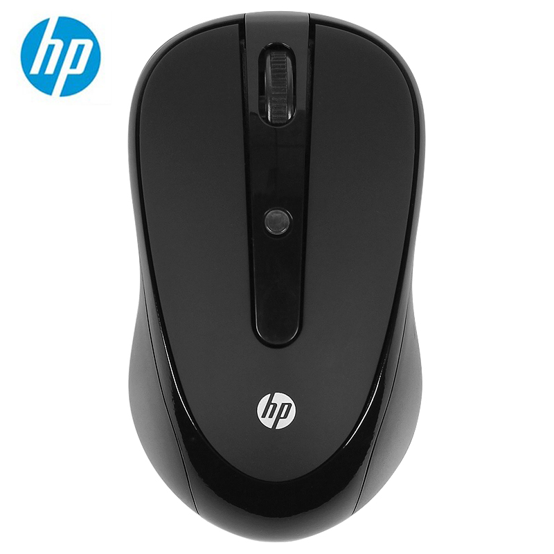 HP 2.4Ghz Wireless Optical USB Mouse 1000DPI Ergonomics 1DR45PA Support Official Test Mice car model style wireless 2 4ghz optical 1000dpi mouse silver black 2 x aaa