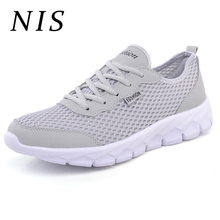 NIS Big Size Eu39-48 Breathable Mesh Sneakers Lightweight Men Vulcanized Shoes Casual Men Shoes Sports Running Sneakers Mens New
