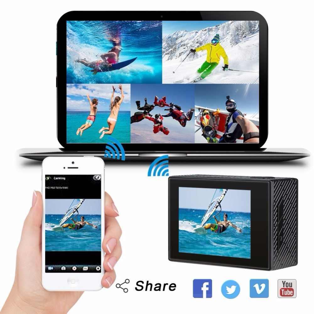 AKASO Brave 4 4K 20MP WIFI HD Action Camera Ultra HD with EIS 30m Underwater Waterproof Remote control 5X Zoom Helmet Sport cam