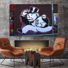 Alec Monopoly Street Wall Art Canvas Painting Posters Prints Modern Pictures For Living Room Home Decor