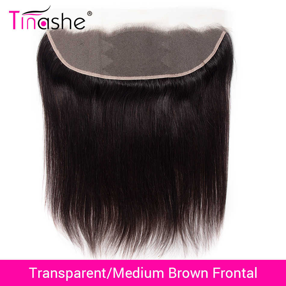 Tinashe Hair Brazilian Straight Hair HD Swiss Lace Frontal Closure Human Hair Lace Closure Remy Hair Transparent Lace Frontal