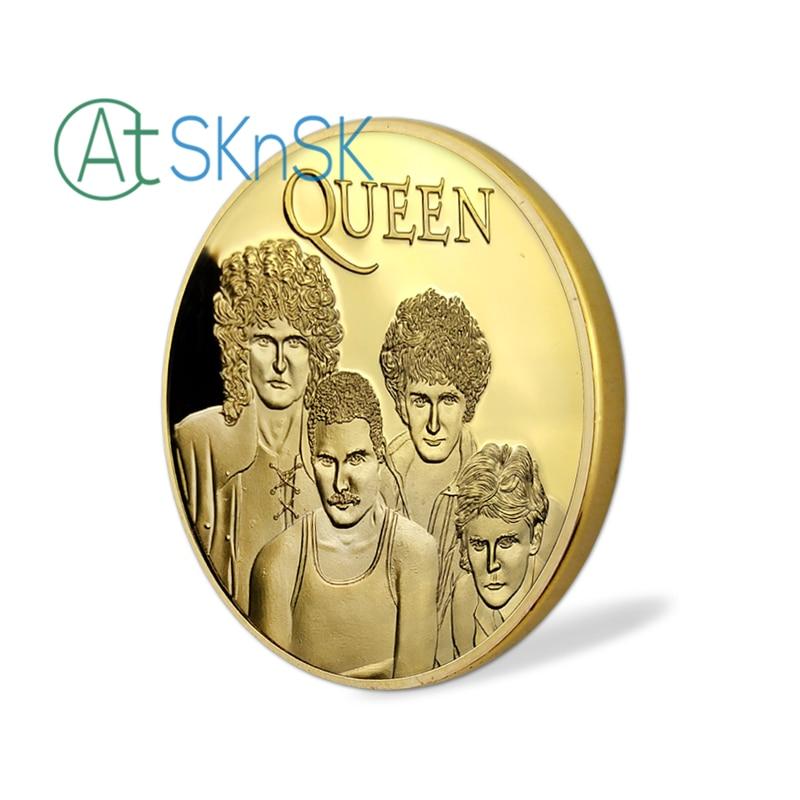 10pcs / lot, Brezplačna dostava Famous Band - Queen Gold Plated - Dekor za dom - Fotografija 4
