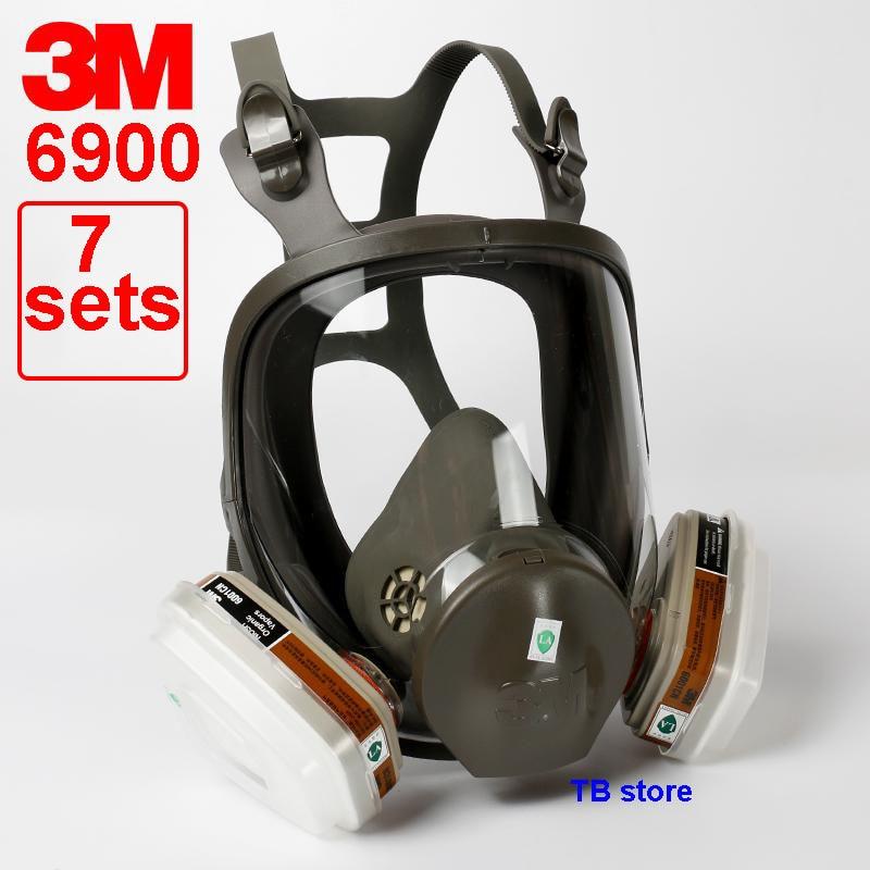3M 6900 respirator Full face mask L code 3M original 6900 protective mask Configuration 3M 6001 ...