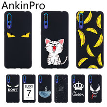 Soft Silicone Case For Huawei P20 P10 P30 Pro Lite Plus Black Cover Phone TPU Protective Back Cases Cat Dog Girl Woman AnkinPro(China)