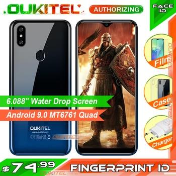 OUKITEL C15 Pro 6.088'' MT6761 2GB+16GB / 3GB+32GB Mobile Phone Fingerprint Face ID 4G Smartphone 2.4G/5G WiFi Waterdrop Screen
