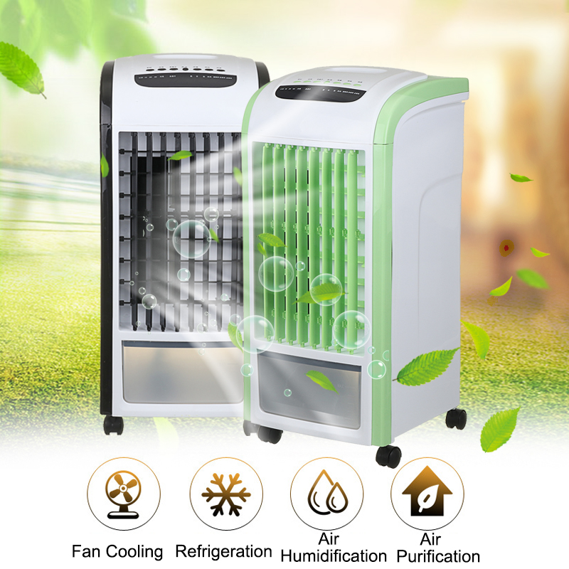 60W 220V Evaporative Air Cooler Fan Portable Remote Desk Electric Fan Mini Air Conditioner Device Cool Soothing Wind Home universal dc 12v evaporative air conditioner 35w black portable mini cooling conditioner water evaporative car air fan