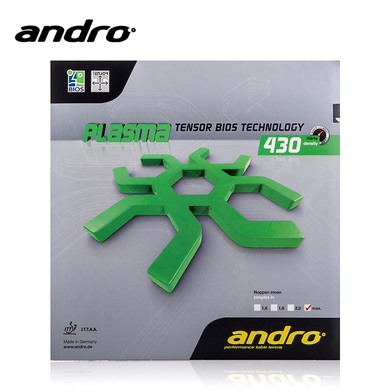 Andro Plasma 430 470 Pimples In Table Tennis Rubber Pips-In Ping Pong Sponge Tenis De Mesa