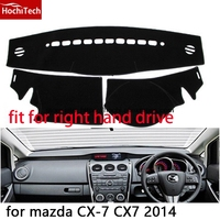 For Mazda Cx7 Cx 7 14 Right Hand Drive Dashboard Mat Protective Pad Black Red Car