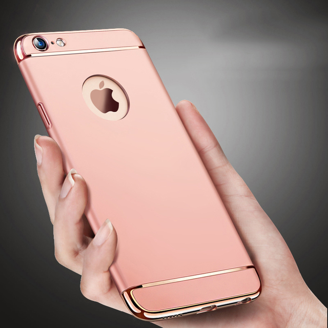 Luxury Ultra Thin Shockproof Armor Rose Gold Case For Apple Iphone 6