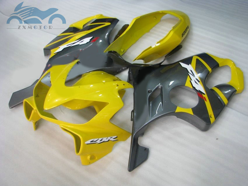 Injection fairings for <font><b>HONDA</b></font> 2004-2007 CBR600 F4i fairing kits 04 05 06 07 CBR 600F <font><b>CBR600F4I</b></font> yellow gray ABS aftermarket <font><b>parts</b></font> image