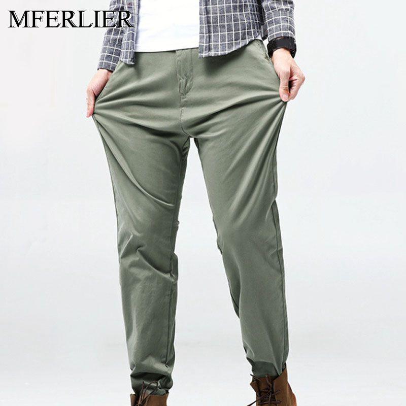 Весенне летние мужские брюки 5XL 6XL 7XL 8XL, тонкие, стильные, талия 120 см, большие размеры, Длинные мужские штаны Узкие брюки      АлиЭкспресс