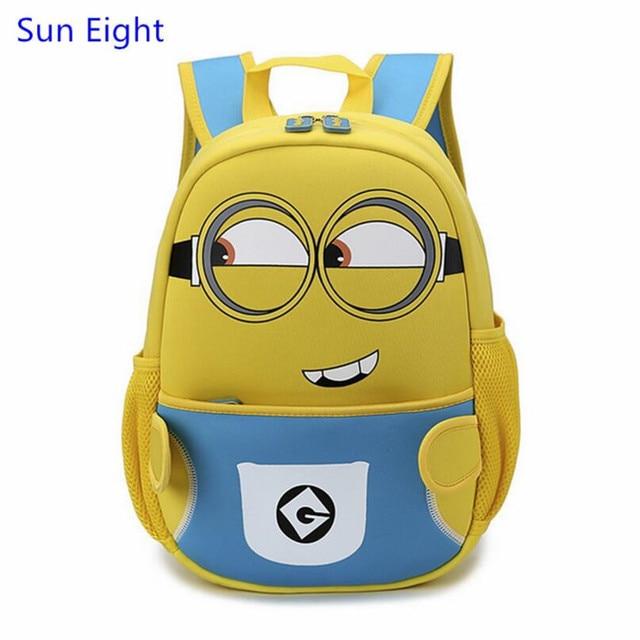 0d5e4444779 Sun eight kids minion tas mini minion rugzak despicable me minions  kleuterschool zak cartoon rugzak voor