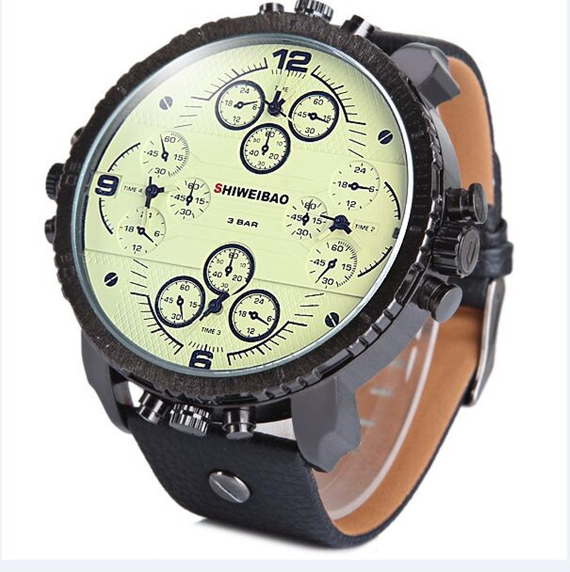 Men Quartz Watch Multi-movt sport luxury brand military relojes wristwatch mens casual clock Relogio Masculino