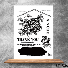 Thank you letter Transparent Clear Stamps DIY Scrapbooking Album Card Making Decoration Embossing Stencil