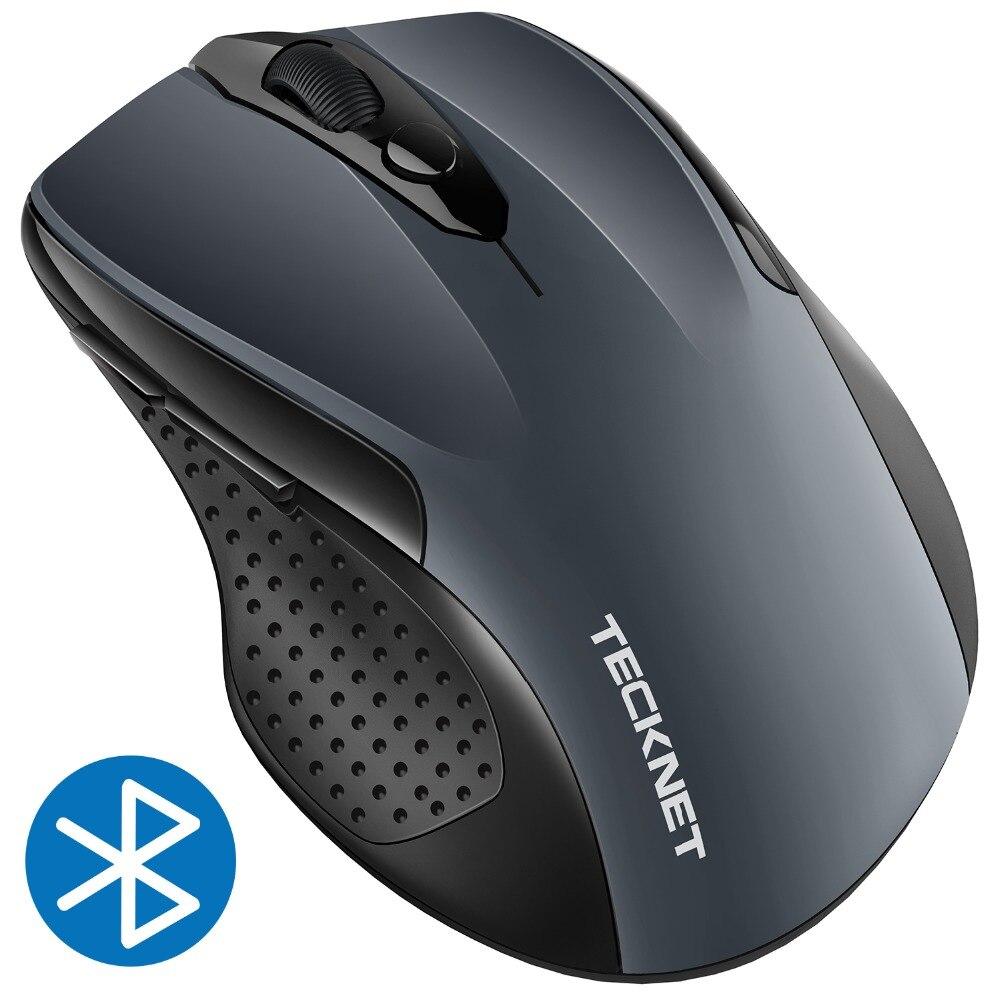TeckNet 2400 dpi Bluetooth Drahtlose Maus, 24 Monate Batterie Lebensdauer Mit Batterie Anzeige, 2400/1500/1000 dpi für laptop