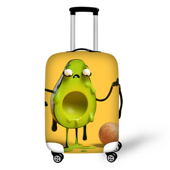 Personality illustratio travel accessories suitcase protective covers 18-30 inch elastic luggage dust cover case stretchable bag pvc suitcase bag protective covers transparent rain dust luggage travel accessories wear resistant bag protect parts sleeve case