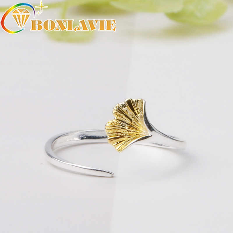 60b6232cf7 Detail Feedback Questions about Wholesale Unique Trendy Ginkgo Biloba 2018  New Adjustable Ring High Quality Design Gold Silver Promise Rings Women  Gift on ...