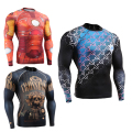 3D Full Printing Long Sleeves Mens Compression Shirt Tight Skin Body Building Fitness Men's Jersy Base Layer MMA T-Shirt