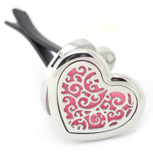 New Arrival Magnetics Car Perfume Locket Heart Shape 316 Stainless Steel Aromatherapy Essential Oil Diffuser Lockets