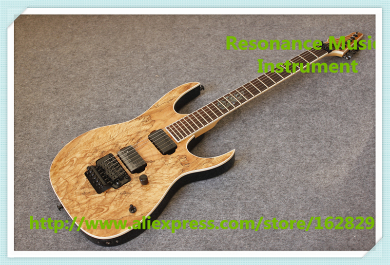 Chinese Music Instrument Natural Wood Grain Finish Custom Shop Electric Guitars With Black Floyd Rose Tremolo custom shop music man john petrucci electric guitar in sliver sparkle finish