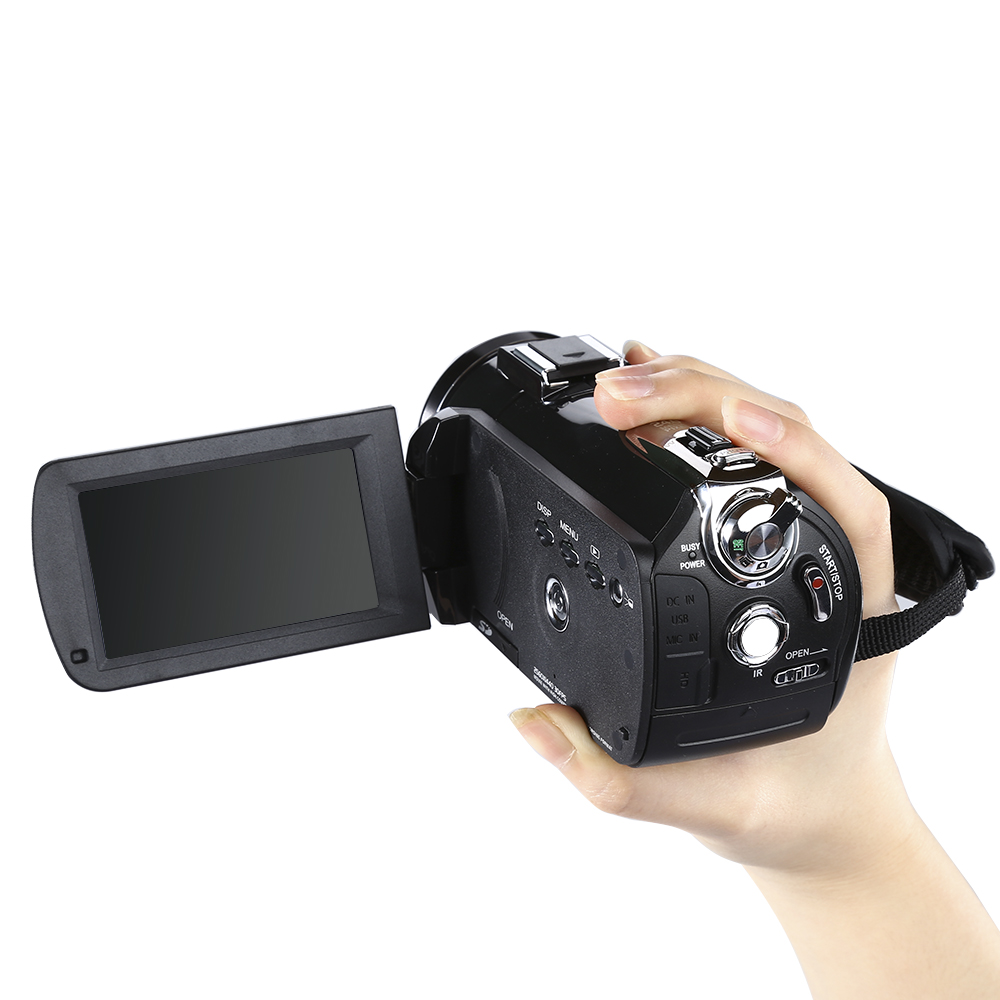 ORDRO Updated AC3 4K Hot Shoe WIFI Digital Camera HDMI 24MP Infrared Night Vision Video Recording Camcorder 3 Touch Screen