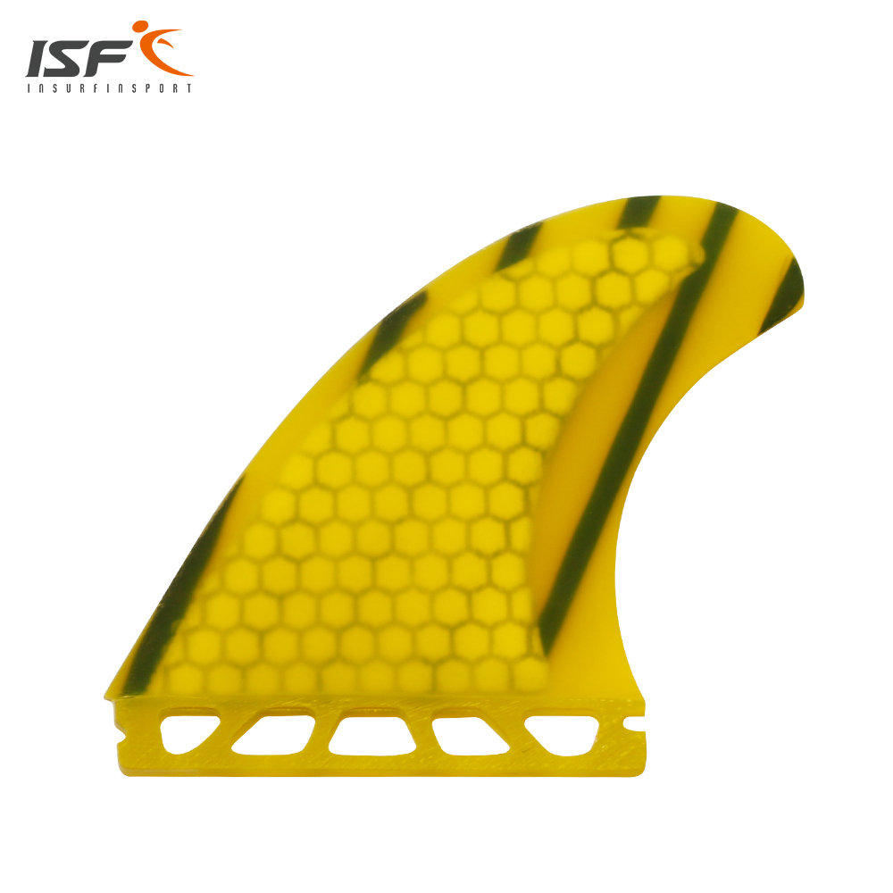 Free shipping new design honeycomb yellow quihas future SQ quad surfboard fins pranchas de surf sup