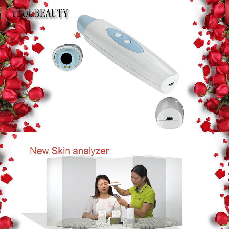 TDOUBEAUTY 2018 New M-558 Ultra HD High-tech Wifi Scalp Hair Microscope Analyzer Skin Detector Analyzer Camera Free Shipping