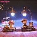 Niños lámpara de Noche de Una Pieza de Luffy de Dibujos Animados Tema Decoración Luz de La Noche Mejor Regalo de los juguetes para Los Niños